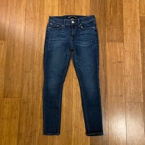 Express mid-rise skinny jeans/jeggings